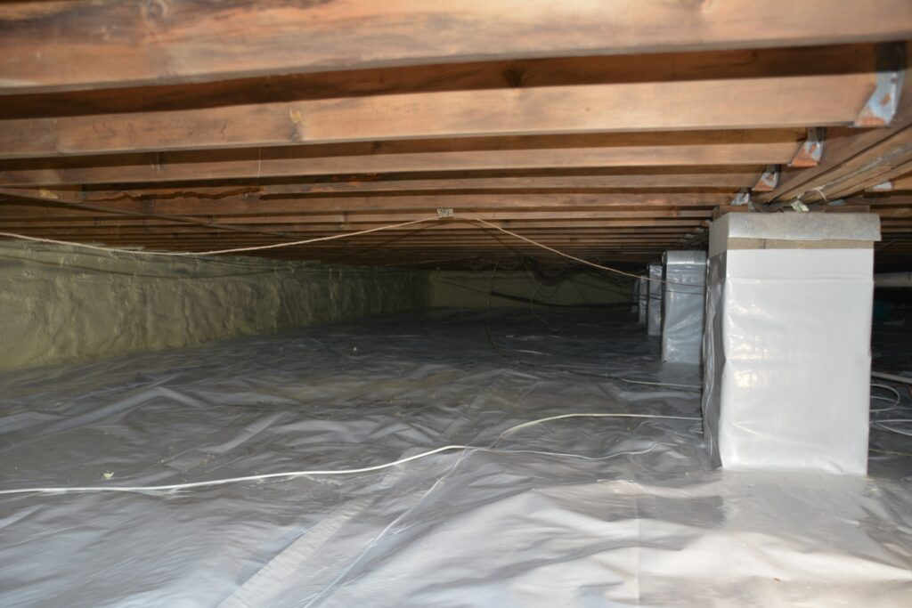 Crawl space rodent proofing